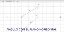 Diédrico Ángulo de una recta con los planos de proyección