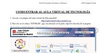 Instrucciones Aula Virtual y libro digital Tecnología