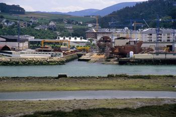 Rampa de varada de astillero, Navia, Principado de Asturias