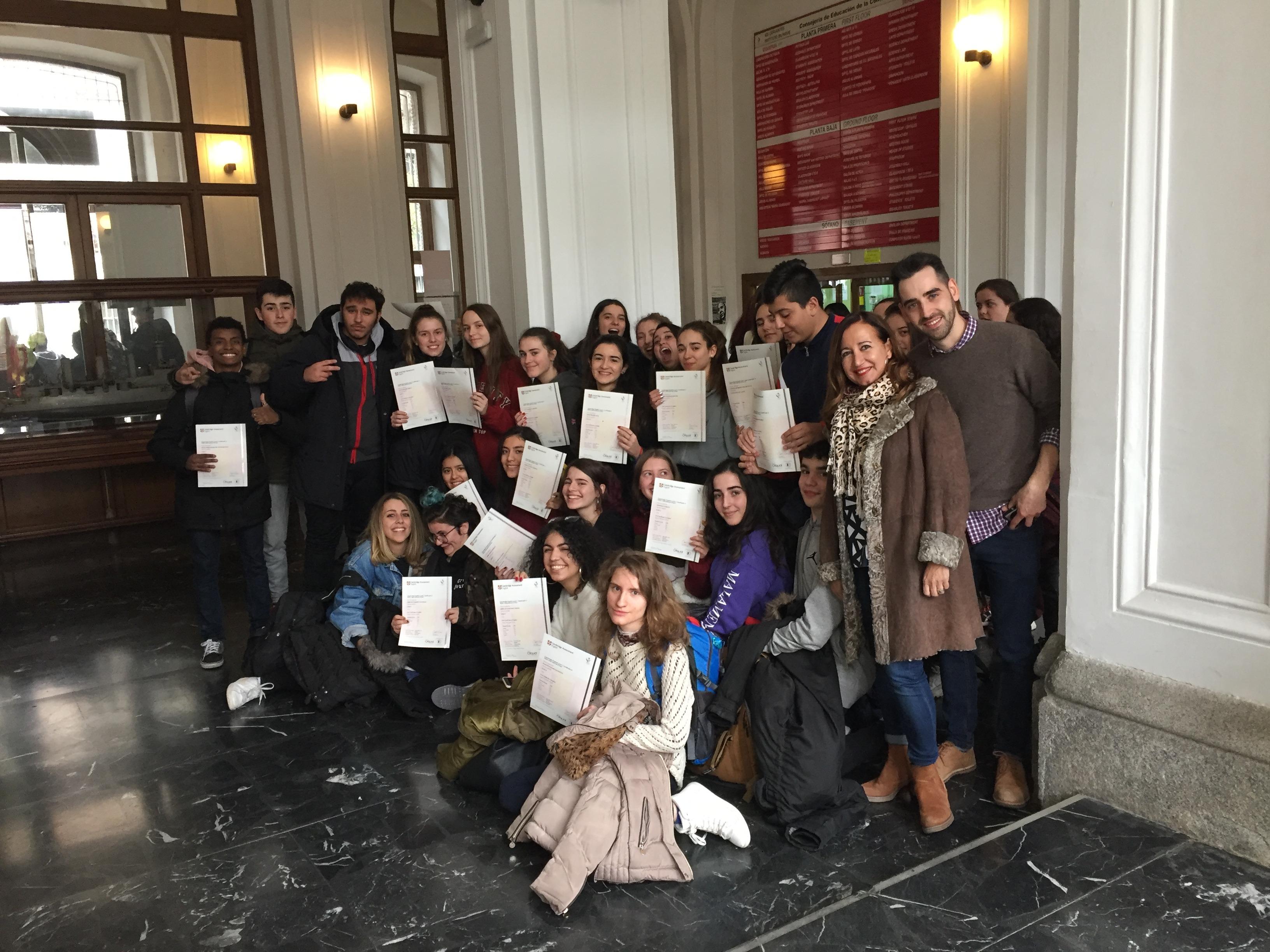 Certificados Cambridge 2018 2