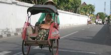 Transporte callejero, Jogyakarta, Indonesia