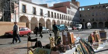 Mercado en el casco antiguo de Badajoz