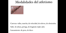 SECUNDARIA - 3º - ATLETISMO - EDUCACIÓN FÍSICA