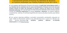 Instrucciones para el Proceso de Escolarización del curso 2017-2018
