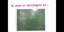 PRIMARIA - 5º - ÁREAS. PRACTICAMOS CON EL RECTÁNGULO - MATEMÁTICAS - FORMACIÓN