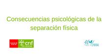 Consecuencias Psicológicas de la Separación Física