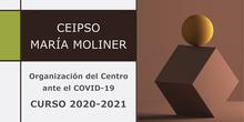 Organización del CEIPSO María Moliner ante el COVID-19