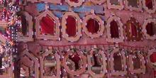Espejos artesanos con marco de cuero