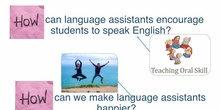 Growth Plan - Encourage language assistants in the learning process