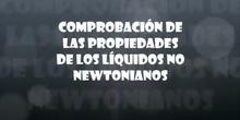 PROPIEDADES DE LOS LÍQUIDOS NO NEWTONIANOS