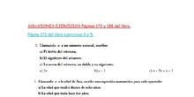 1ºA Soluciones ejercicios páginas 173 y 188.- 1ºA ESO