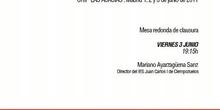 Mesa redonda de clausura: IES Juan Carlos I. Ciempozuelos