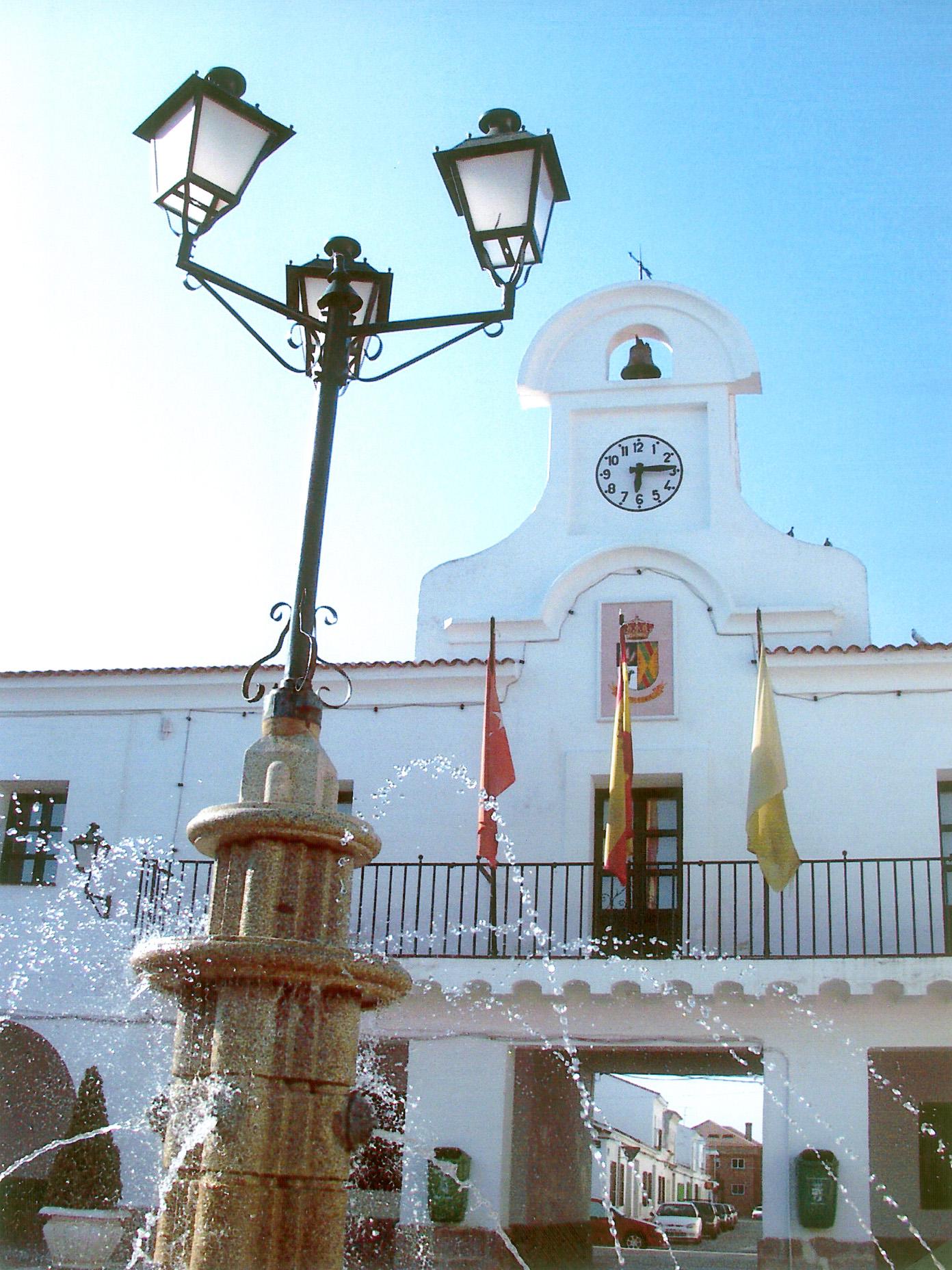 Detalle del ayuntamiento de Villanueva del Pardillo