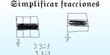 PRIMARIA - 6º - MATEMÁTICAS - SIMPLIFICAR FRACCIONES - NINA Y NEREA - FORMACIÓN