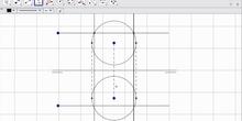 Intersección recta paralela a LT con esfera