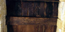 Cubierta leñosa de la cámara oriental de la planta baja de Santa