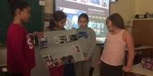 Exposición de Sheyla, Candela, Carlota y Alina en Ciencias Sociales
