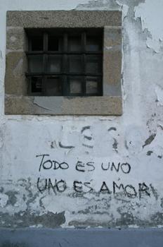 Pintada en una pared de Santiago de Cpmpostela, La Coruña, Galic