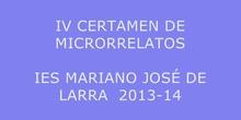 IV CERTAMEN DE MICRORRELATOS 2014
