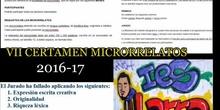 IES LARRA VII CERTAMEN MICRORRELATOS 2016-17
