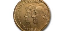 Cara de una moneda de 500 pesetas