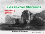 SECUNDARIA-LITERATURA-Los Géneros literarios