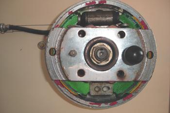 Freno de tambor. Sección y elementos