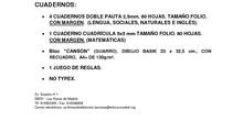 Listado de libros de 4º de Primaria. Curso 2017-2018