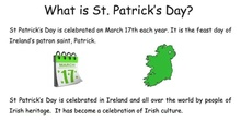 St. Patrick´s day at Las Navas school