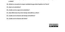 JUEGO PREGUNTAS LA TIERRA