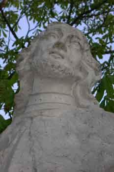 Detalle de la escultura de Alfonso I El Batallador, rey de Aragó