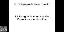 0503 Estructura y producción agrícola en España