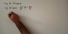 Ley de Ampère - Cálculo del campo mangético generado por un hilo infinito