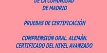Certificado de Nivel  Avanzado (B2). Alemán. Modelo B