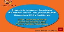 Moodle: Examen de Matemáticas con bolígrafo y papel en 1º ESO
