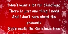 All I want for christmas es you!