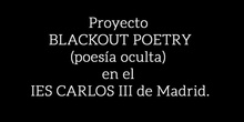Blackout poetry en el IES Carlos III