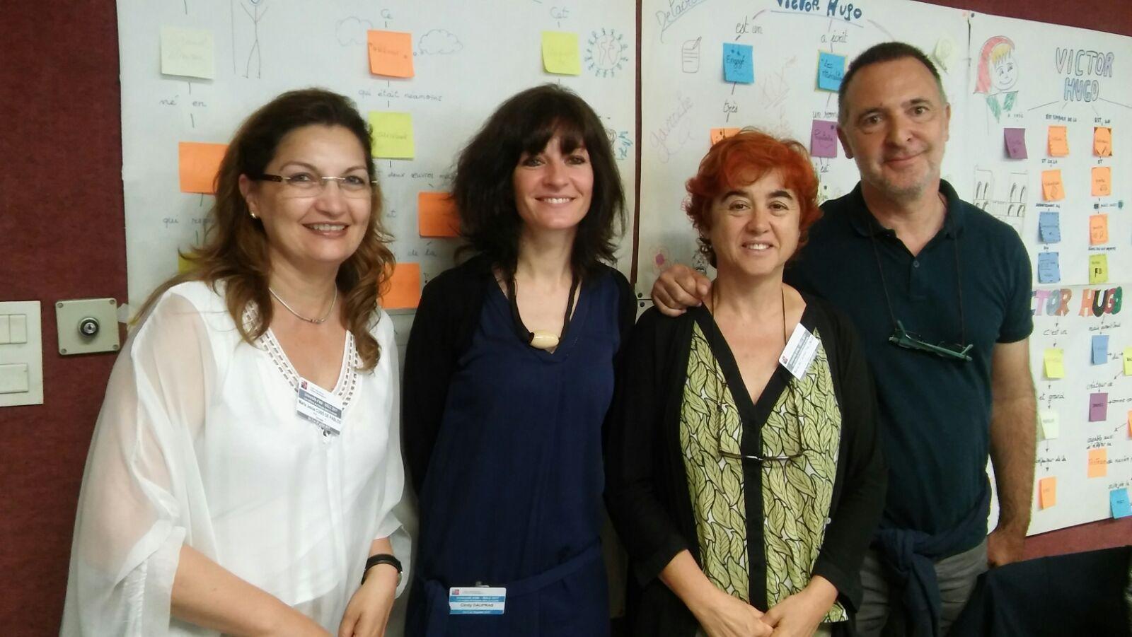 La professeure du module et les participants