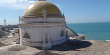 Cúpula de tejas doradas, Catedral de Cádiz, Andalucía