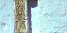 Bajorrelieve de una iglesia de Santorini, Grecia