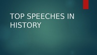 Top Speeches in History