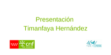 Presentación Timanfaya Hernández