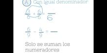 PRIMARIA - 6º - SUMAR Y RESTAR FRACCIONES 2 - MATEMÁTICAS