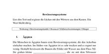 Bewässerungssysteme (Arbeitsblatt) - 1º ESO