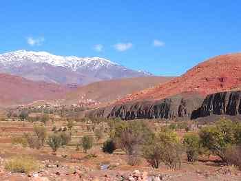 Formaciones geológicas, Cordillera del Atlas, Marruecos
