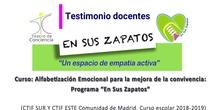 """Programa """"En sus zapatos"""": testimonios finales docentes"""