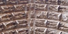 Detalle de la Puerta del Juicio, Catedral de Tudela, Navarra