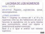seminario metodología abn. juego la casa de los números.