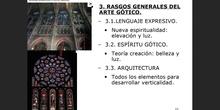 3. Rasgos generales del arte Gótico