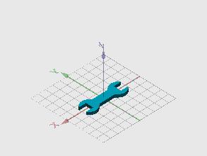 Llave para tuerca cuadrada de 10mm